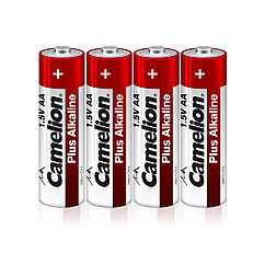 Батарейка, CAMELION, LR6-SP4, Plus Alkaline, AA, 1.5V, 2700 mAh, 4 шт. в плёнке