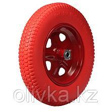 Колесо полиуретановое, 3.25-3.00-8, d колеса 365 мм, d ступицы 16 мм, L ступицы 85 мм