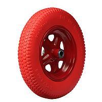 Колесо полиуретановое, 3.25-3.00-8, d колеса 365 мм, d ступицы 20 мм, L ступицы 85 мм