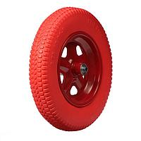 Колесо полиуретановое, 3.25-3.00-8, d колеса 365 мм, d ступицы 12 мм, L ступицы 110 мм
