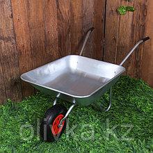 Тачка садовая, одноколёсная: груз/п 85 кг, объём 65 л, пневмоколесо 3.50-6, кузов 0,5 мм