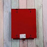 Ящик почтовый без замка (с петлёй), вертикальный, «Почта», бордовый, фото 5