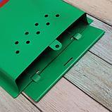 Ящик почтовый «Почта», вертикальный, без замка (с петлёй), зелёный, фото 5