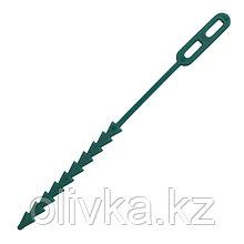 Подвязки для растений, длина 12.5 см, набор 100 шт., зелёные, GRINDA