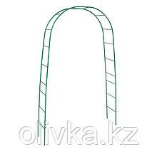 Арка садовая, разборная, 240 × 125 × 36,5 см, металл, зелёная, Greengo