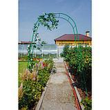 Арка садовая, разборная, 240 × 125 × 36,5 см, металл, зелёная, Greengo, фото 3