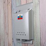 Ящик почтовый без замка (с петлёй), вертикальный, «Почта», серый, фото 3