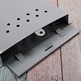 Ящик почтовый без замка (с петлёй), вертикальный, «Почта», серый, фото 4