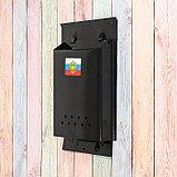 Ящик почтовый без замка (с петлёй), вертикальный, «Почта», чёрный, фото 4