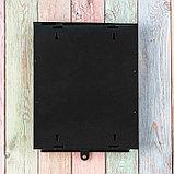 Ящик почтовый без замка (с петлёй), вертикальный, «Почта», чёрный, фото 6