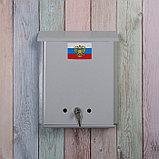 Ящик почтовый с замком, вертикальный, «Почта», серый, фото 2