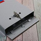 Ящик почтовый с замком, вертикальный, «Почта», серый, фото 4