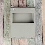 Ящик почтовый с замком, вертикальный, «Почта», серый, фото 6
