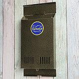 Ящик почтовый без замка (с петлёй), вертикальный, бронзовый, фото 3