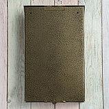 Ящик почтовый без замка (с петлёй), вертикальный, бронзовый, фото 6