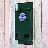 Ящик почтовый без замка (с петлёй), вертикальный, зелёный, фото 3