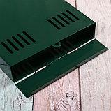 Ящик почтовый без замка (с петлёй), вертикальный, зелёный, фото 4