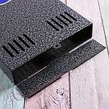 Ящик почтовый без замка (с петлёй), вертикальный, серебристый, фото 4