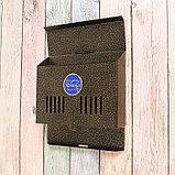 Ящик почтовый без замка (с петлёй), горизонтальный «Мини», бронзовый, фото 4
