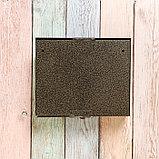 Ящик почтовый без замка (с петлёй), горизонтальный «Мини», бронзовый, фото 6
