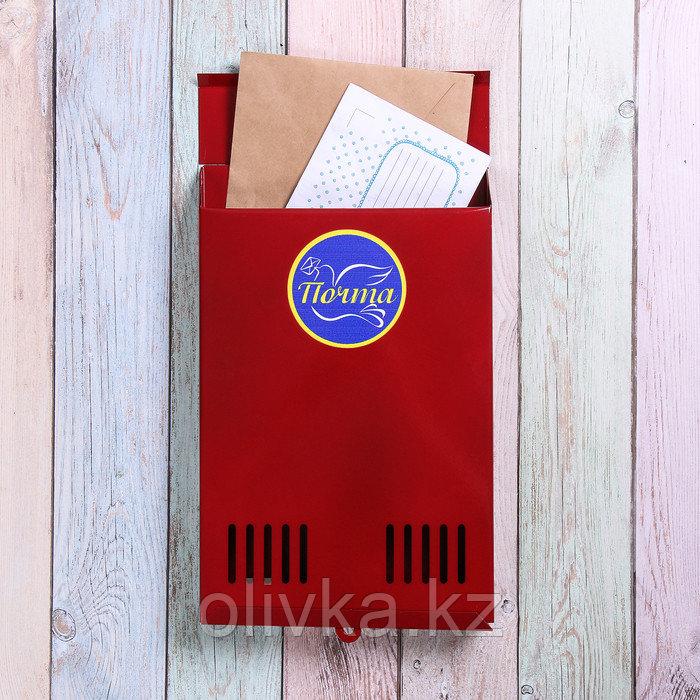Ящик почтовый без замка (с петлёй), вертикальный, красный