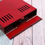Ящик почтовый без замка (с петлёй), вертикальный, красный, фото 4