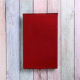 Ящик почтовый без замка (с петлёй), вертикальный, красный, фото 5