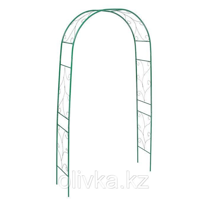 Арка садовая, разборная, 240 × 120 × 36.5 см, металл, зелёная, «Веточка»