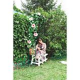 Арка садовая, разборная, 250 × 120 × 30 см, металл, зелёная, «Узор-1», фото 3