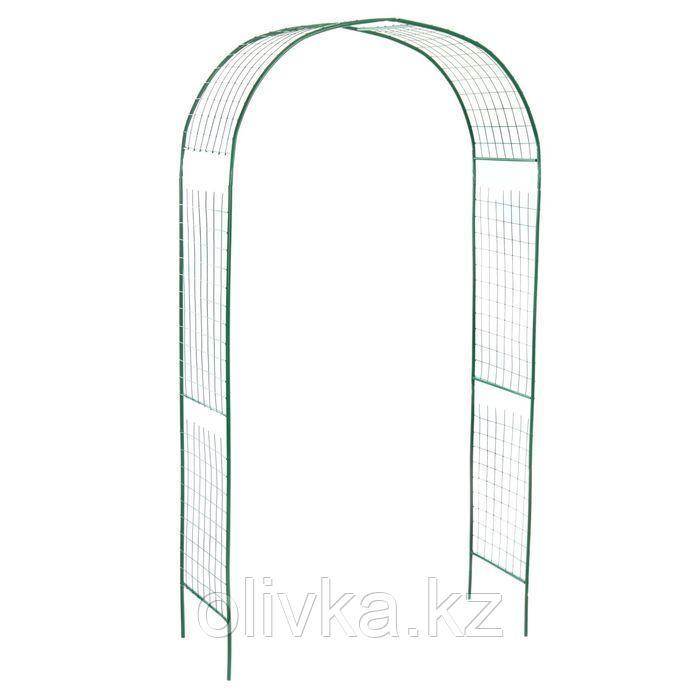 Арка садовая, разборная, 230 × 125 × 50 см, металл, зелёная, «Сетка»