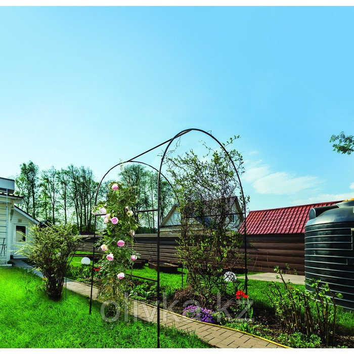 Арка садовая из сталь.трубы 15*15 мм, толщ.1,5 мм, 250*150*60 см, цвет коричневый