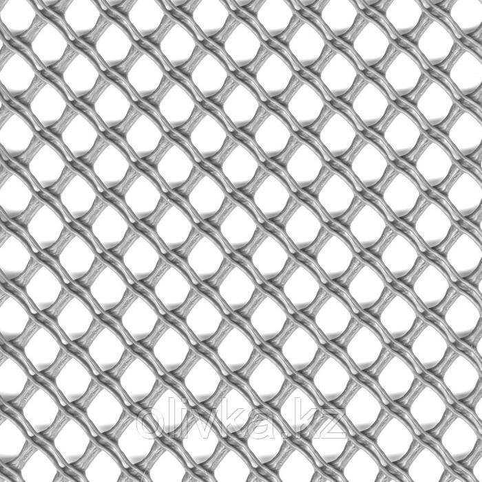 Сетка садовая, 1 × 5 м, ячейка 1,3 × 1,5 см, пластик, серебристая, AIRY