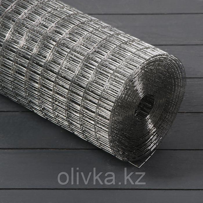 Сетка оцинкованная, сварная 1,2 × 10 м, ячейка 12,5 × 25 мм, d = 1 мм, металл