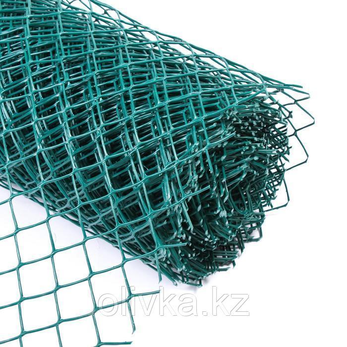 Сетка садовая, 1,5 × 20 м, ячейка 40 × 40 мм, зелёная
