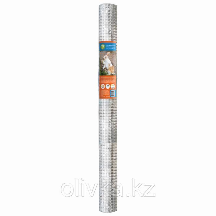 Сетка универсальная, 1 × 5 м, ячейка 1,27 × 1,27 см, толщина 0,8 мм, оцинкованный металл
