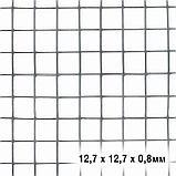 Сетка универсальная, 1 × 5 м, ячейка 1,27 × 1,27 см, толщина 0,8 мм, оцинкованный металл, фото 2