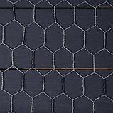 Сетка оцинкованная, плетёная, 1,5 × 10 м, ячейка 25 × 25 мм, d = 1 мм, металл, фото 2