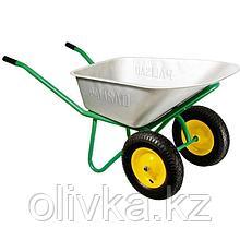 Тачка садово-строительная, 2-х колесная, усиленная, грузоподъемность 320 кг, объем 100 л