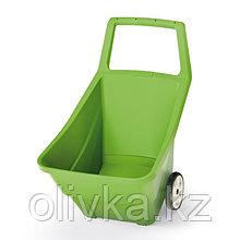 Тачка садовая, двухколёсная. 95 л, пластик, цвет оливковый