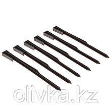 Колышек для крепления бордюрной ленты, h = 30 см, набор 6 шт., коричневый
