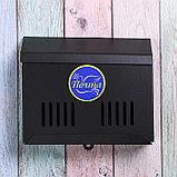Ящик почтовый без замка (с петлёй), горизонтальный «Мини», чёрный, фото 2