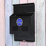 Ящик почтовый без замка (с петлёй), горизонтальный «Мини», чёрный, фото 3