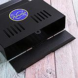 Ящик почтовый без замка (с петлёй), горизонтальный «Мини», чёрный, фото 4