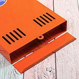 Ящик почтовый без замка (с петлёй), вертикальный, оранжевый, фото 4