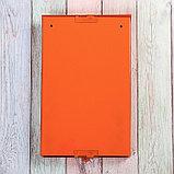Ящик почтовый без замка (с петлёй), вертикальный, оранжевый, фото 5
