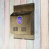 Ящик почтовый без замка (с петлёй), горизонтальный «Широкий», бронзовый, фото 4