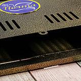 Ящик почтовый без замка (с петлёй), горизонтальный «Широкий», бронзовый, фото 5