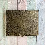 Ящик почтовый без замка (с петлёй), горизонтальный «Широкий», бронзовый, фото 6