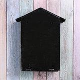 Ящик почтовый с щеколдой, вертикальный «Домик», чёрный, фото 5