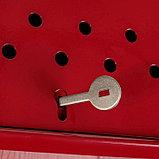 Ящик почтовый с щеколдой, вертикальный «Домик», бордовый, фото 4